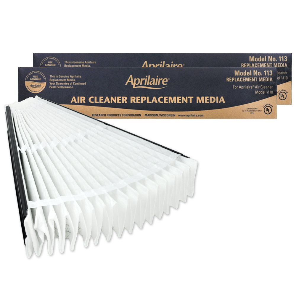 Aprilaire #113 MERV 13 Replacement Filter, 2-Pack