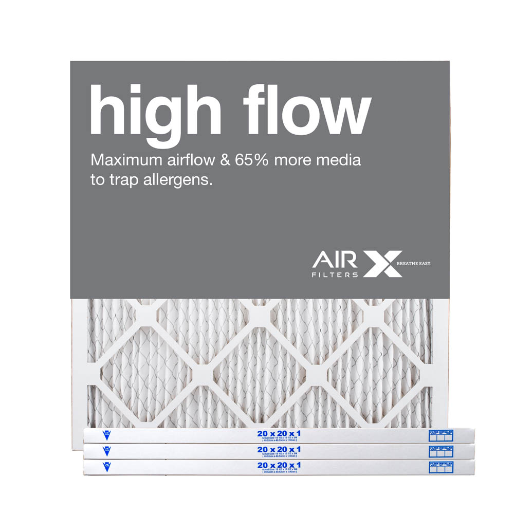 20x20x1 AIRx High Flow Pleated Air Filter