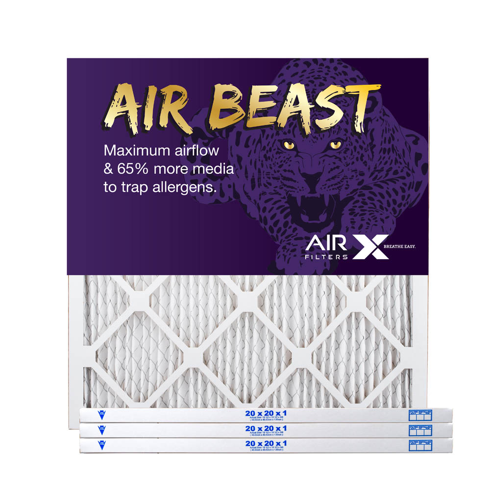 20x20x1 AIRx Air Beast High Flow Pleated Air Filter