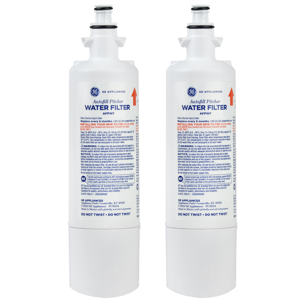 GE AFPWF Autofill Pitcher Refrigerator Water Filter, 2-Pack