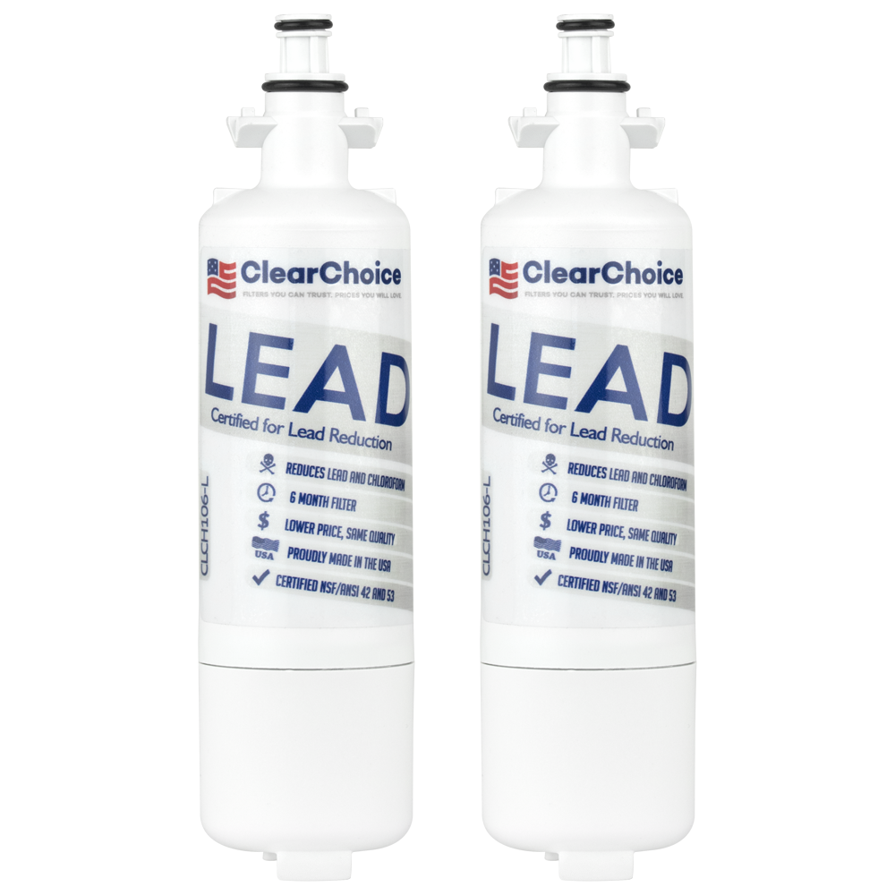 ClearChoice Replacement for LG LT700P Refrigerator Filter, Lead Reduction, 2-Pack