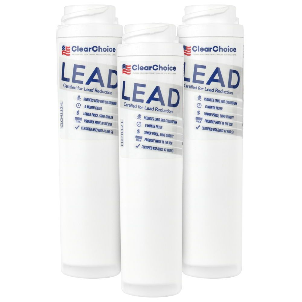 ClearChoice Replacement for GE GSWF Refrigerator Filter, Lead Reduction, 3-Pack