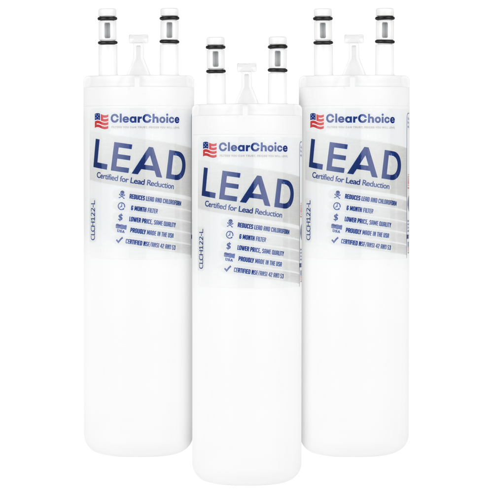 ClearChoice Replacement for WF3CB Refrigerator Water Filter, Lead Reduction, 3-Pack