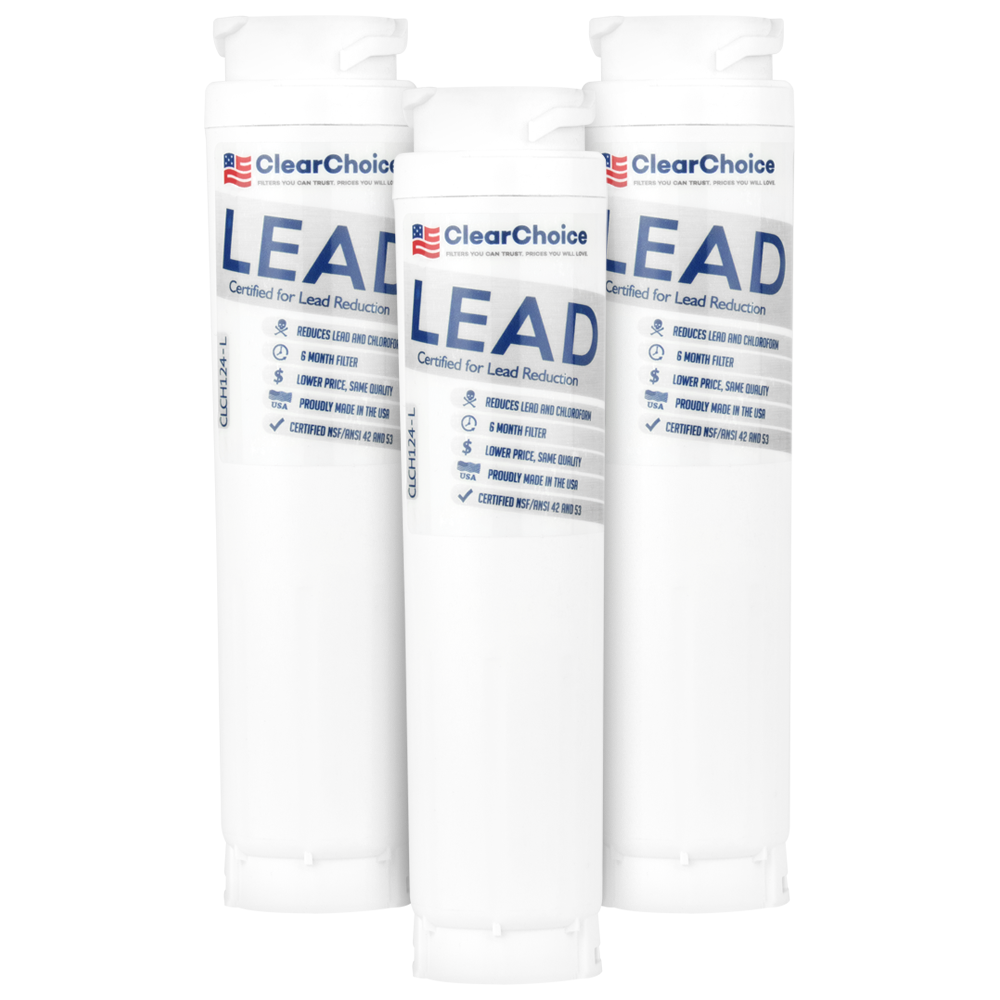 ClearChoice Replacement for Bosch 644845 Refrigerator Filter, Lead Reduction, 3-Pack