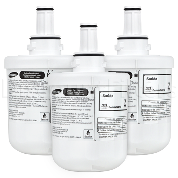 Samsung DA29-00003G Aqua Pure Plus Refrigerator Water Filter, 3-Pack
