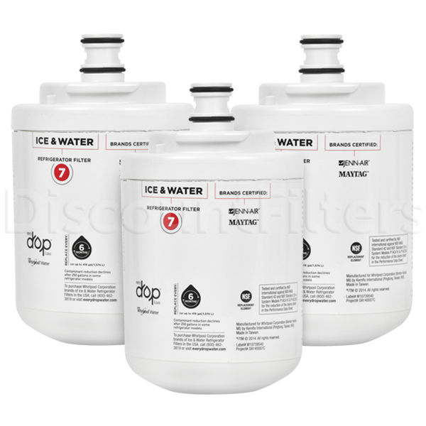 EveryDrop Refrigerator Water Filter - EDR7D1 (UKF7003), 3-Pack
