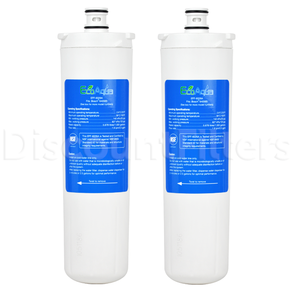 EcoAqua Replacement Filter for Bosch 640565 Refrigerator Filter, 2-Pack