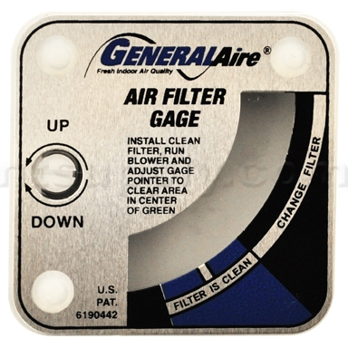 GeneralAire G99 Air Filter Gauge