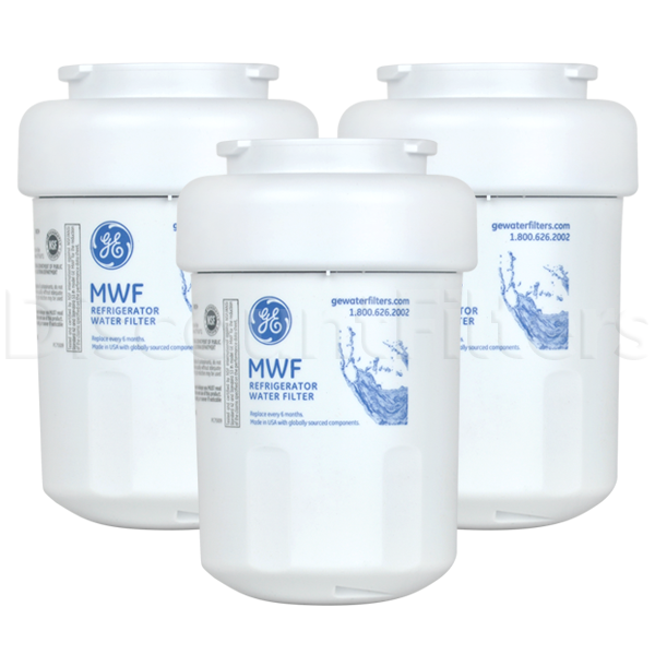 GE SmartWater MWF Filter Cartridge (GWF), 3-Pack