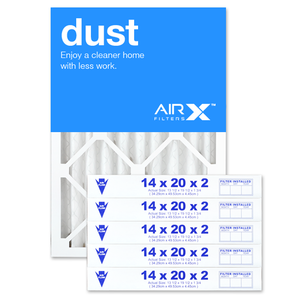 14x20x2 AIRx DUST Air Filter - MERV 8