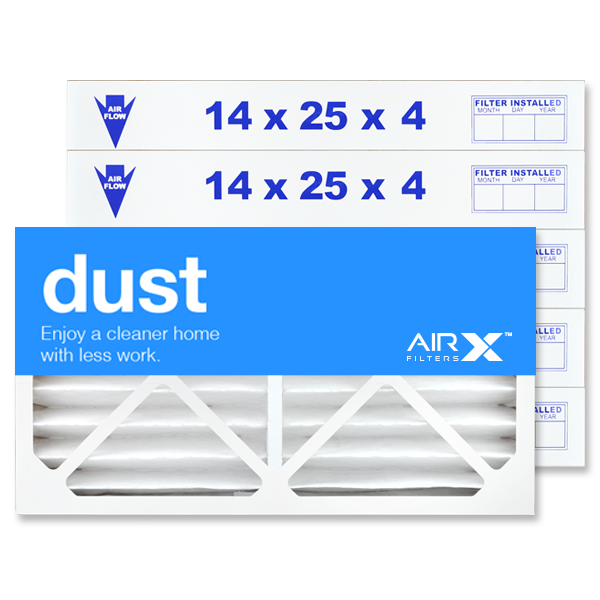 14x25x4 AIRx DUST Air Filter - MERV 8