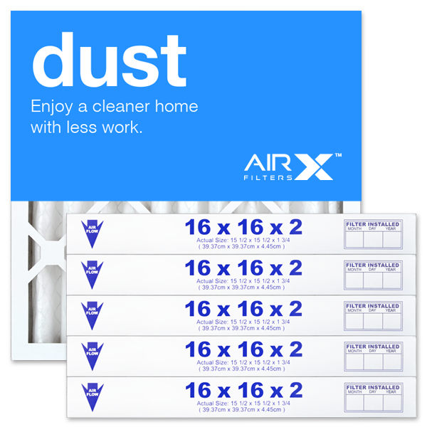 16x16x2 AIRx DUST Air Filter - MERV 8