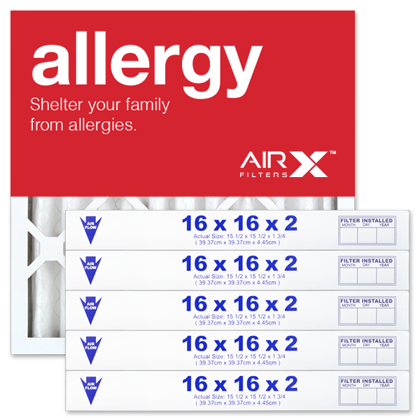 16x16x2 AIRx ALLERGY Air Filter - MERV 11