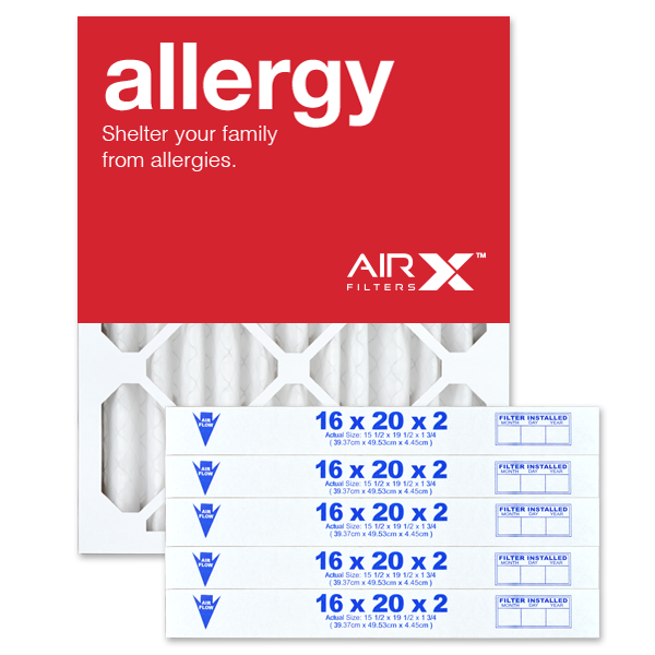 16x20x2 AIRx ALLERGY Air Filter - MERV 11