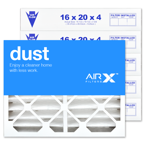 16x20x4 AIRx DUST White Rodgers FR1000M-108 Replacement Air Filter - MERV 8