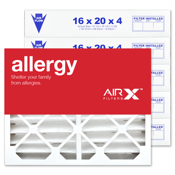 16x20x4 AIRx ALLERGY White Rodgers FR1000M-111 Replacement Air Filter - MERV 11