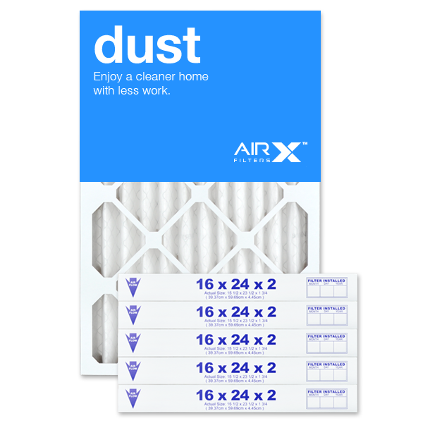 16x24x2 AIRx DUST Air Filter - MERV 8