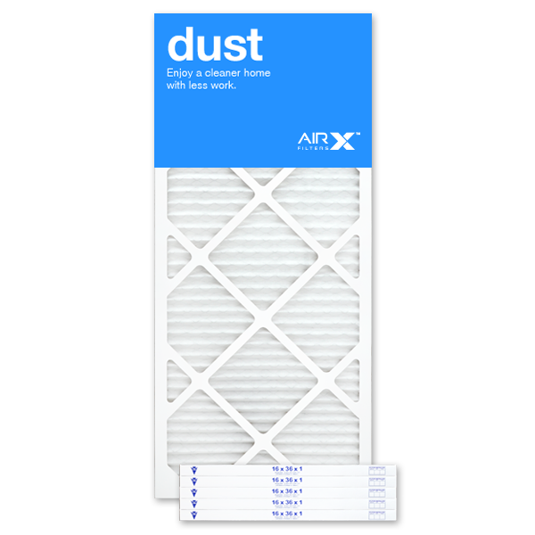 16x36x1 AIRx DUST Air Filter - MERV 8