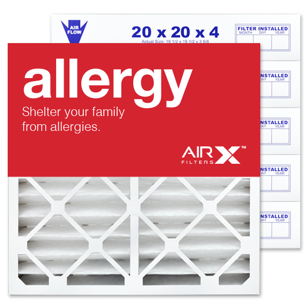 20x20x4 AIRx ALLERGY White Rodgers FR1600M-111 Replacement Air Filter - MERV 11