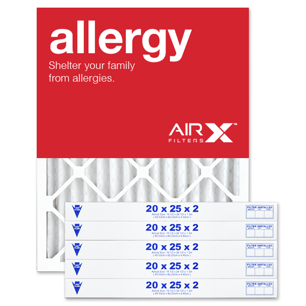 20x25x2 AIRx ALLERGY Air Filter - MERV 11