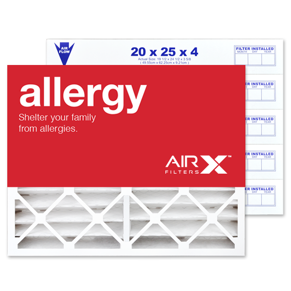 20x25x4 AIRx ALLERGY White Rodgers FR2000M-111 Replacement Air Filter - MERV 11