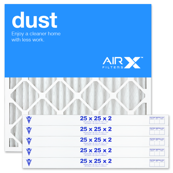 25x25x2 AIRx DUST Air Filter - MERV 8