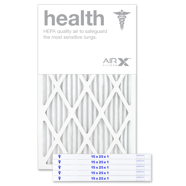 15x25x1 AIRx HEALTH Air Filter - MERV 13